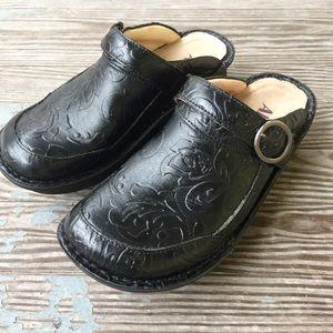 Alegria Seville YeeHaw Black Mules/Clogs